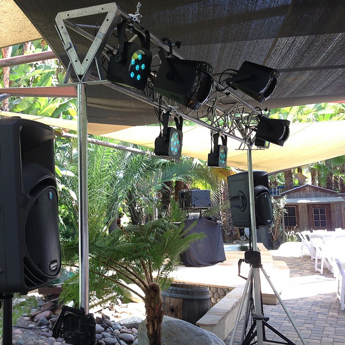 Example of an outdoor set-up